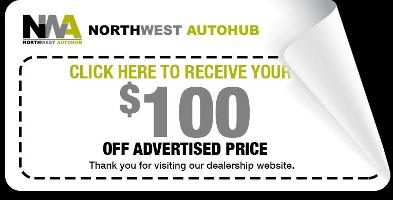 Northwest AUtoHub $100 discount coupon