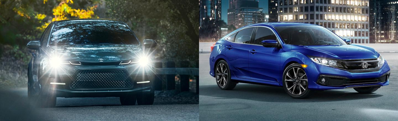 Compare the 2019 Toyota Corolla & 2019 Honda Civic Sedans