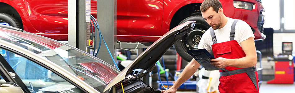 Auto Service Department at Landers McLarty Toyota, in Fayetteville, TN