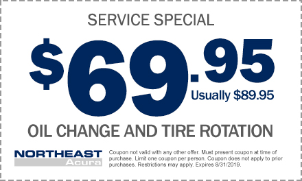 Acura Oil Change Coupon >> Service Parts Specials Northeast Acura