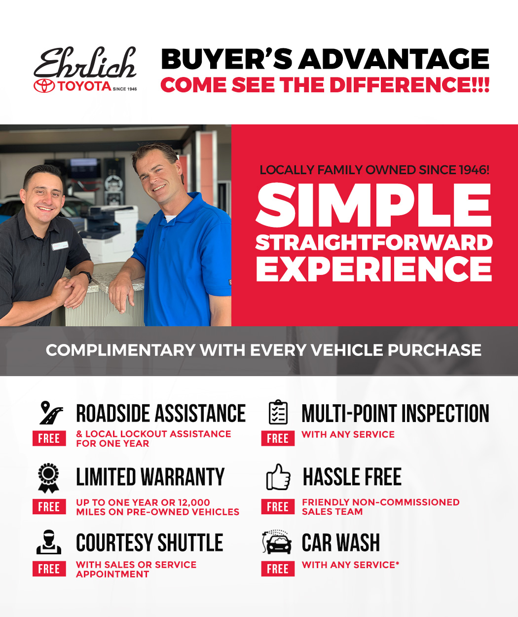 Ehrlich Buyer's Advantage in Greeley, Colorado, at Ehrlich Toyota