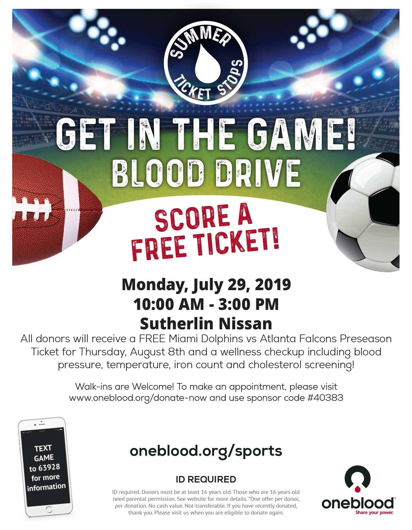 Get in the Game Blood Drive