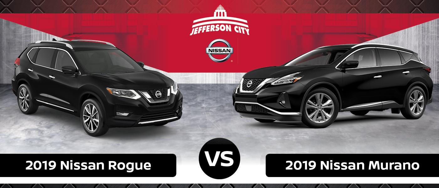 Nissan Rogue Vs Murano >> 2019 Nissan Rogue Vs Nissan Murano Nissan Of Jefferson City
