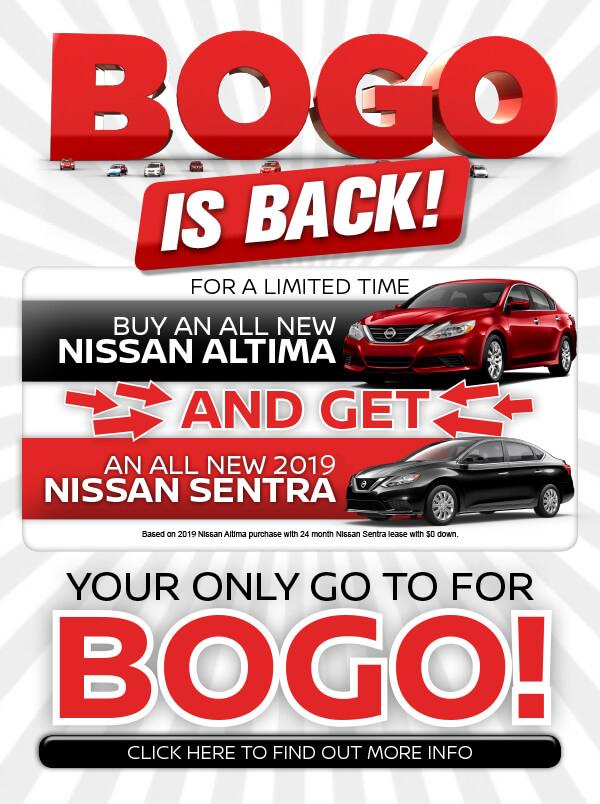 Bogo Car Deals >> Nissan Bogo Offer In Fort Pierce Fl Sutherlin Nissan