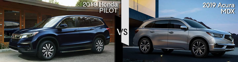 Davis Acura 2019 Acura MDX vs 2019 Pilot