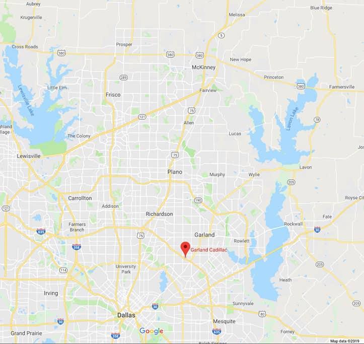 Garland Texas Map >> New Used Car Dealer Serving Garland Tx Beyond Garland Cadillac