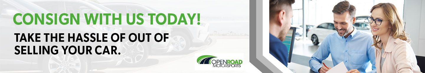 consign your car with Open Road Motorsports