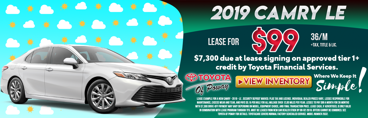 Toyota Highlander 2017 Lease >> San Diego County Auto Lease Specials In Poway Ca Toyota Of Poway