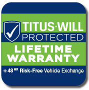 titus-will protected lifetime warranty