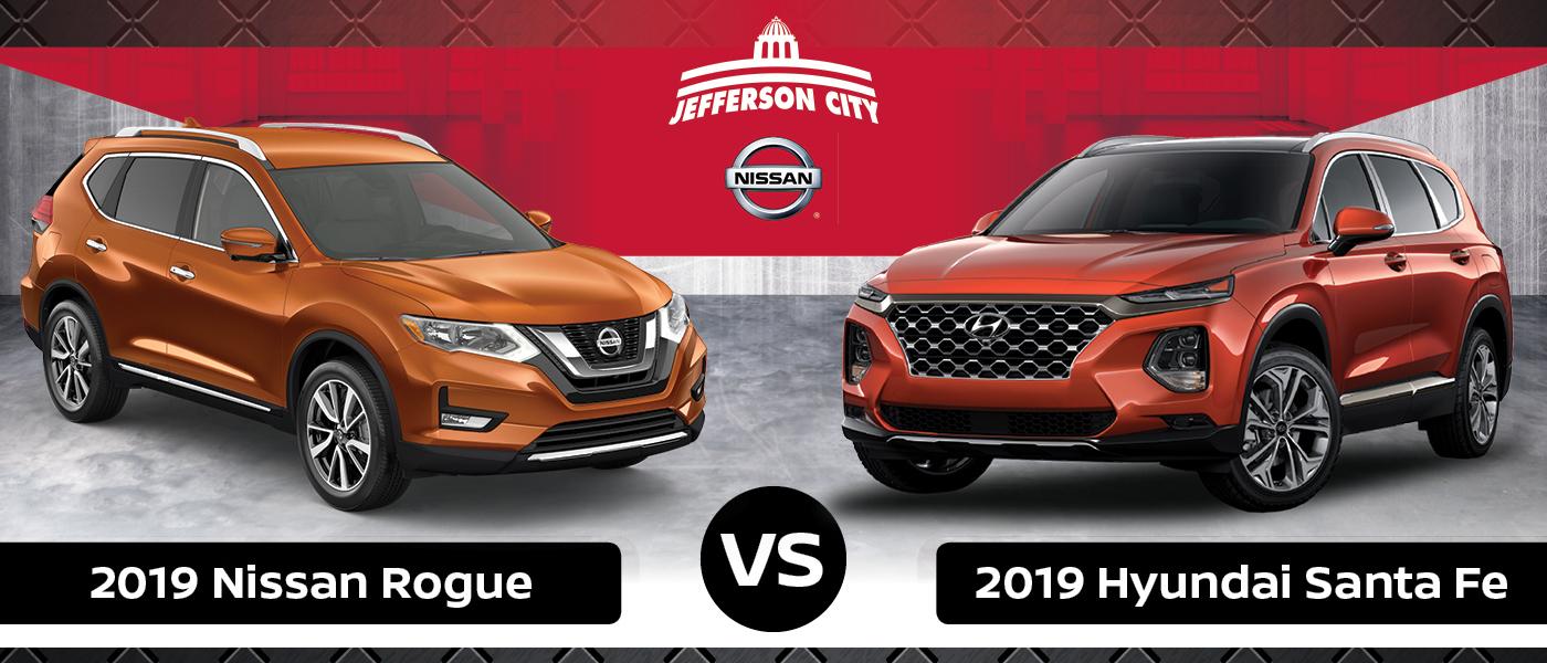 Nissan Rogue Vs Hyundai Santa Fe >> 2019 Hyundai Santa Fe Vs 2019 Nissan Rogue Nissan Of