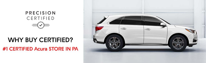 Number 1 Certified Pre-Owned Acura Dealer in Langhorne, Pennsylvania