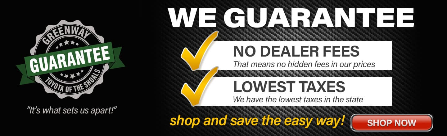 Car Dealers With No Dealer Fees >> Greenway Toyota Of The Shoals New Used Car Dealer In Tuscumbia