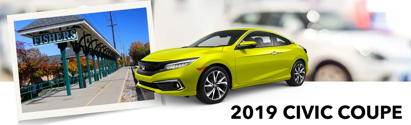 A 2019 Civic Coupe Waits For You Here At Our Fishers, IN, Honda Dealer