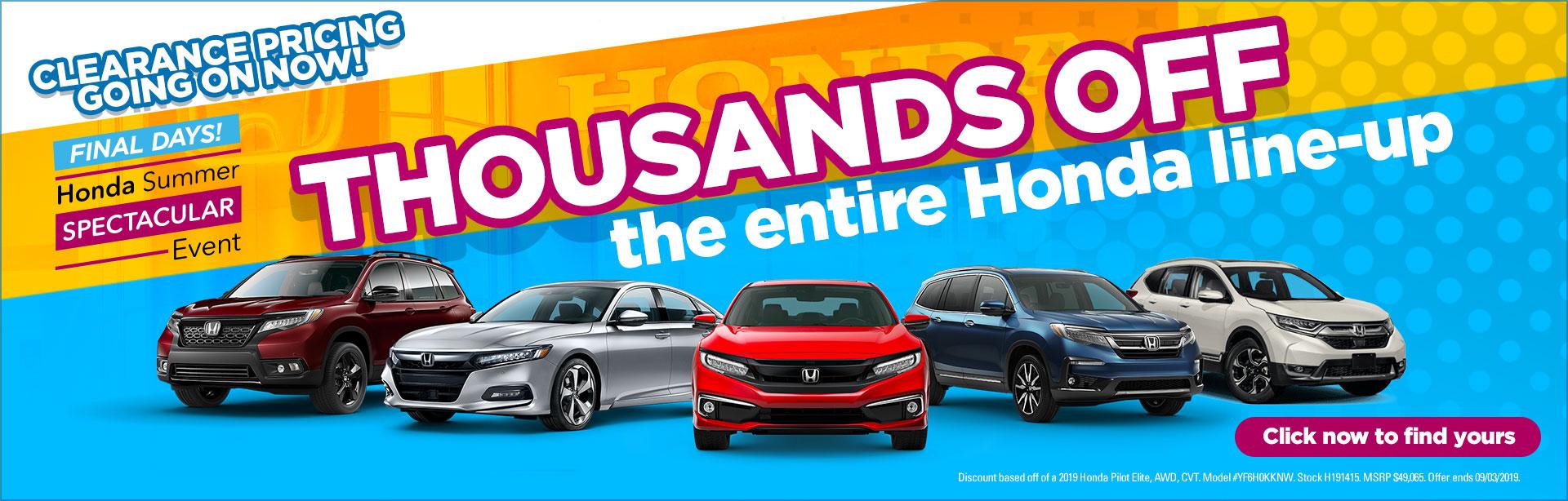 Honda Dealership Mobile Al >> Honda Car Dealer In Birmingham Jefferson County Tameron Honda