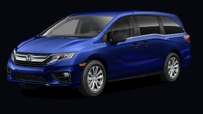 Blue 2019 Honda Odyssey LX