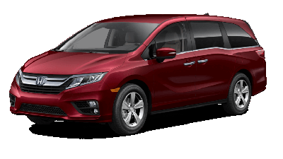 Red 2019 Honda Odyssey EX