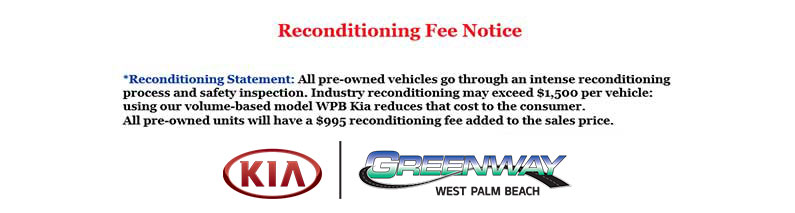 reconditioning fee notice