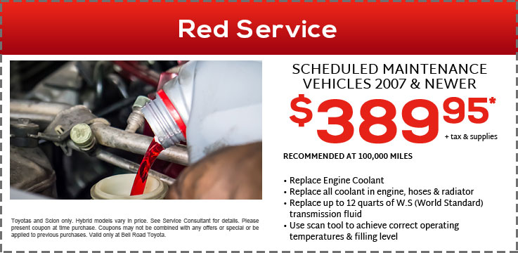picture about Toyota Service Coupons Printable called Services Components Promotions Bell Highway Toyota