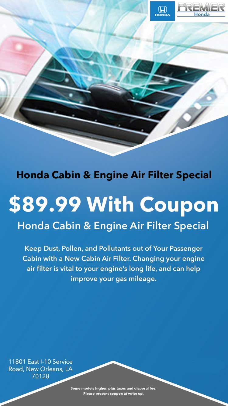Honda Cabin and Air Filter Special