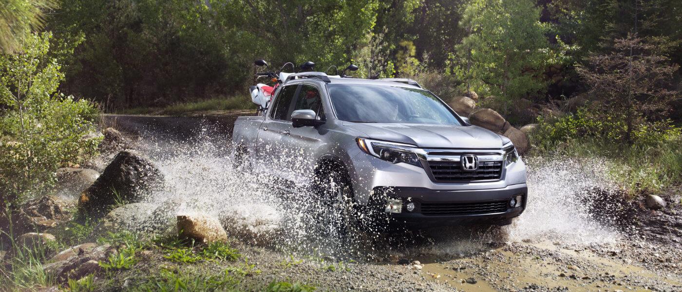 Silver 2019 Honda Ridgeline in stream