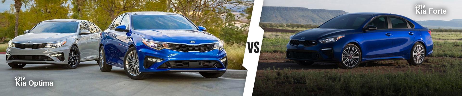 New Kia Sedan Comparison: The 2019 Kia Optima vs. the 2019 Kia Forte