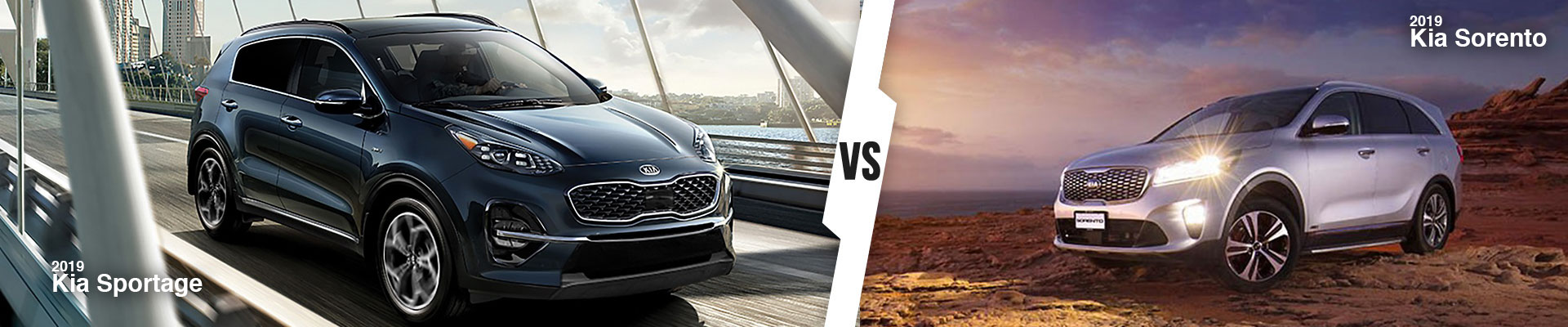 Kia SUV Comparison: 2019 Kia Sportage Versus 2019 Kia Sorento