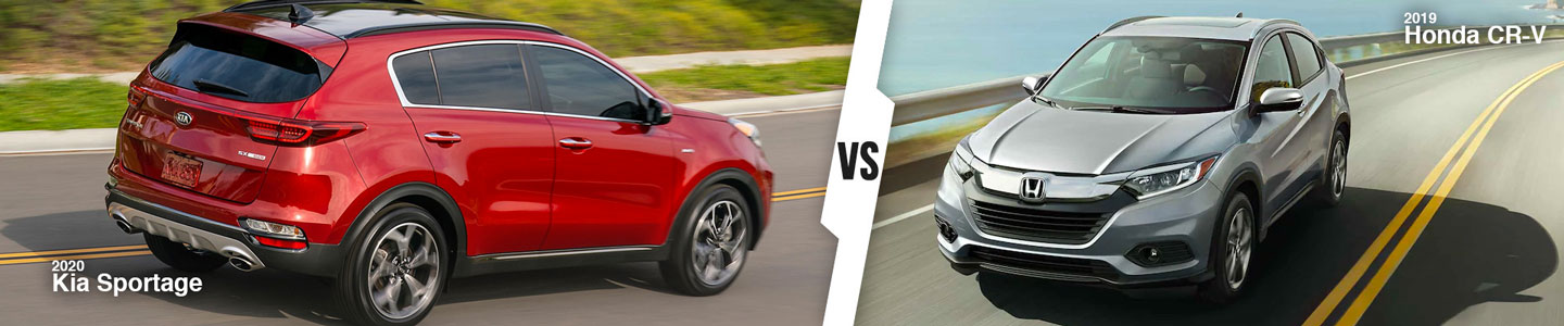 New SUV Comparison: 2020 Kia Sportage Versus 2019 Honda CR-V