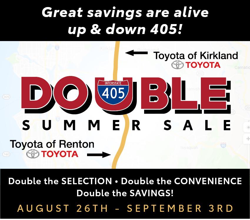 Toyota of Renton Double Summer Sale