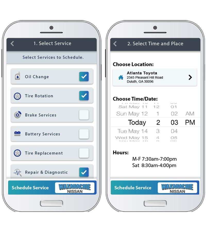 Schedle Service Appointment via App