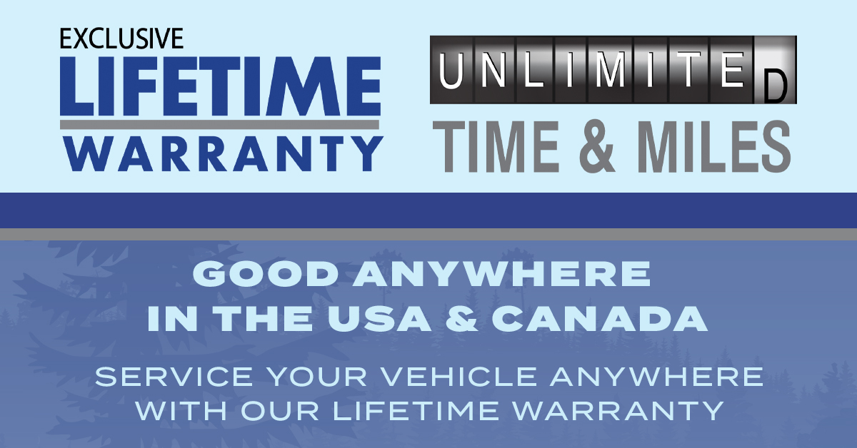 Get our Exclusive Lifetime Warranty!