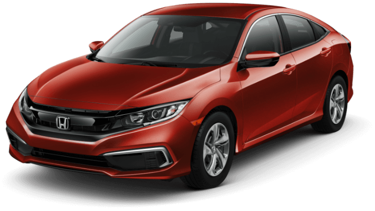 Red 2019 Honda Civic Sedan LX