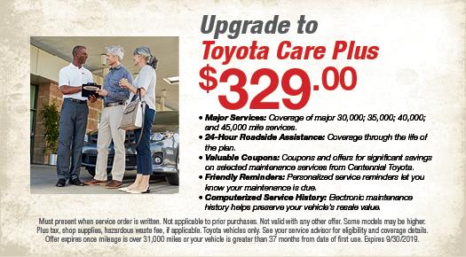 Upgrade to ToyotaCare Plus