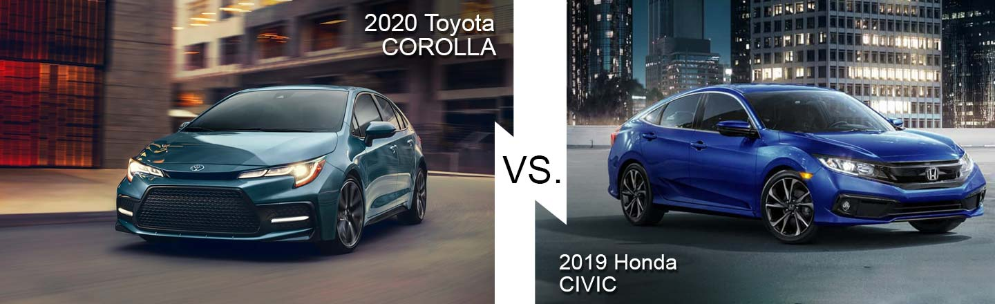 2019 Honda Civic VS. The 2019 Toyota Corolla
