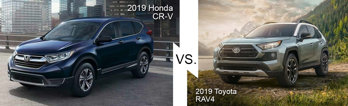 Compare the 2019 Honda CR-V to the 2019 Toyota RAV4 in Burlington, NJ
