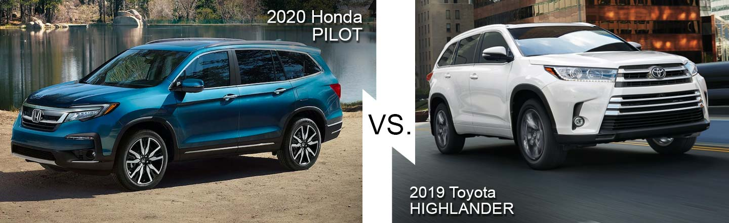 Compare 2020 Honda Pilot and 2020 Toyota Highlander in Burlington, NJ