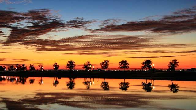 Sunrise over Oak Harbor