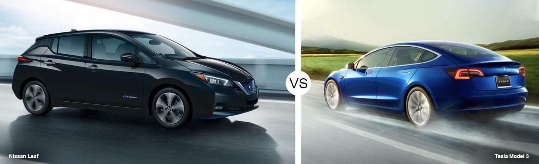 2019 Nissan LEAF vs. 2019 Tesla Model 3