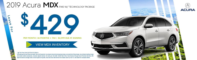 2019 Acura MDX FWD w/ Tech Pkg