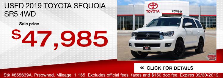 Used 2019 Toyota Sequoia SR5 4WD