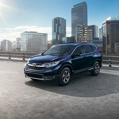 2019 Honda CR-V Parked in Front of City Skyline