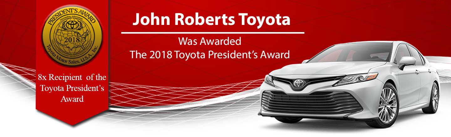 John Roberts was awarded the 2018 Toyota President's Award
