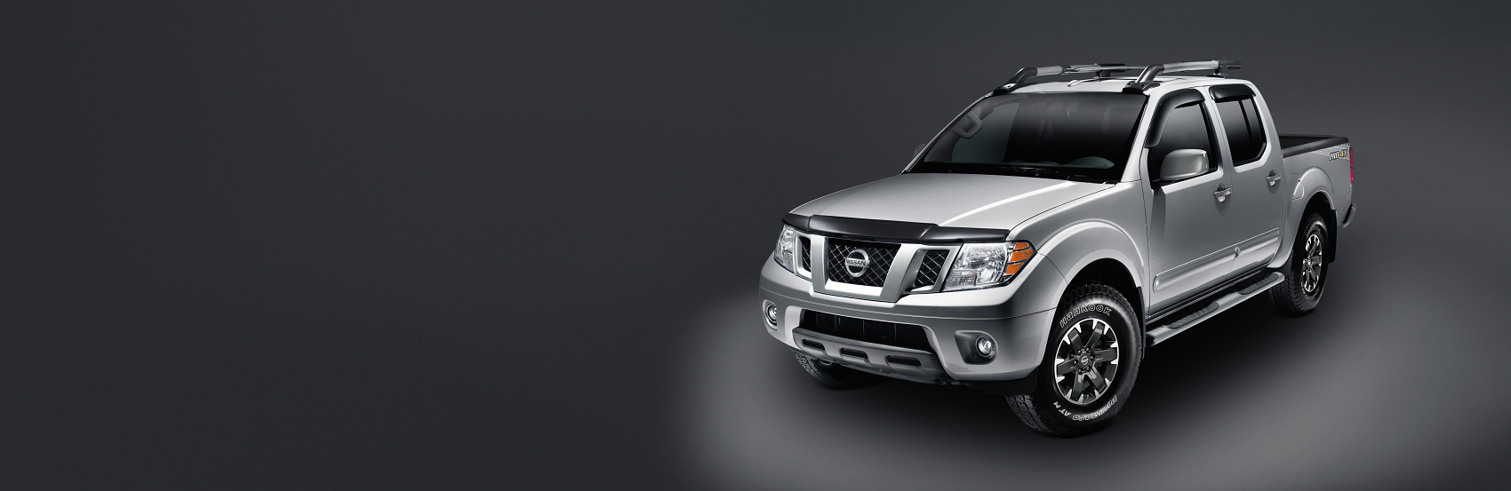 Gray Nissan Frontier