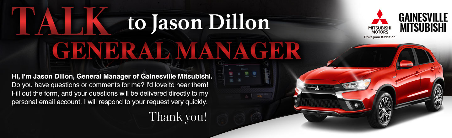 Talk To The GM at Gainesville Mitsubishi