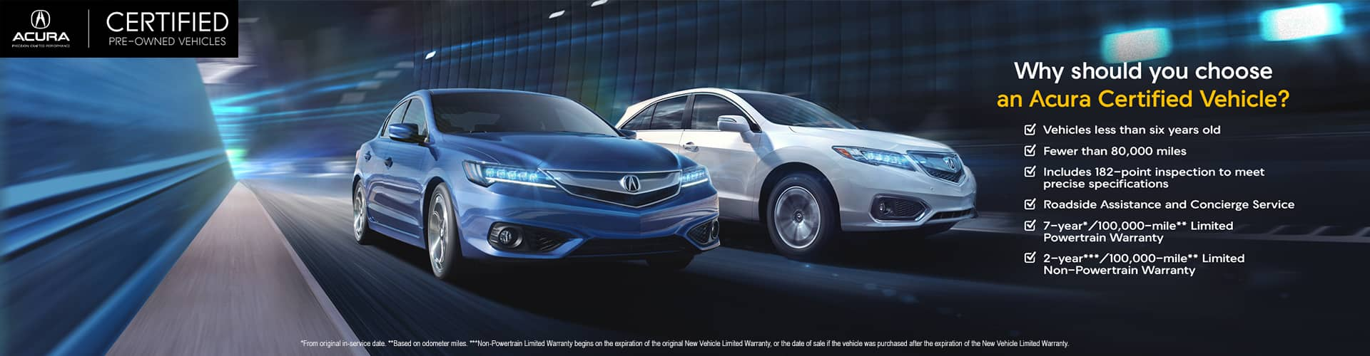 Acura Certified Pre-Owned >> Certified Pre Owned Vehicles