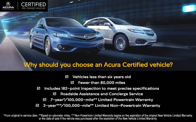 Acura Certified Pre-Owned >> Certified Pre Owned Vehicles Dallas Forth Worth Acura Dealers