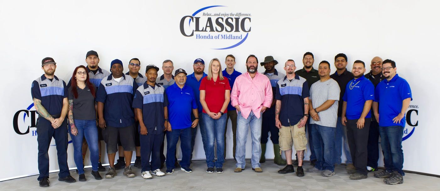 staff at Classic Honda of Midland