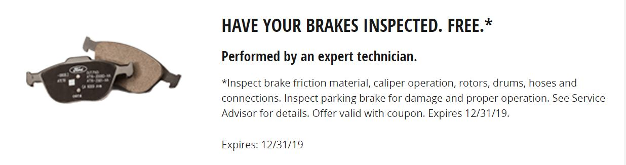 Have Your Brakes Inspected FREE
