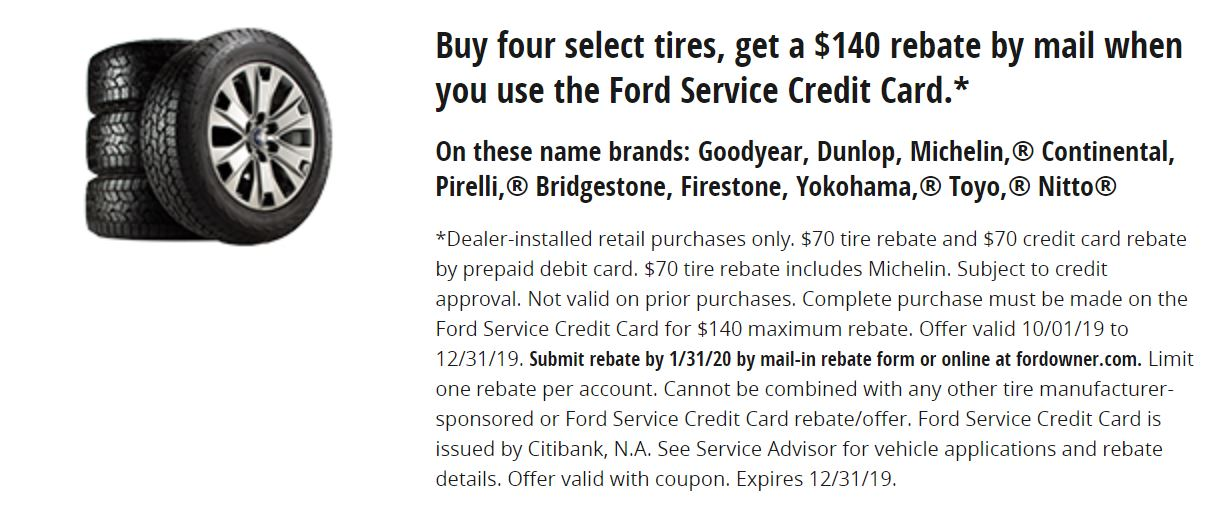 Buy Four Select Tire, Get $140 rebate by Mail