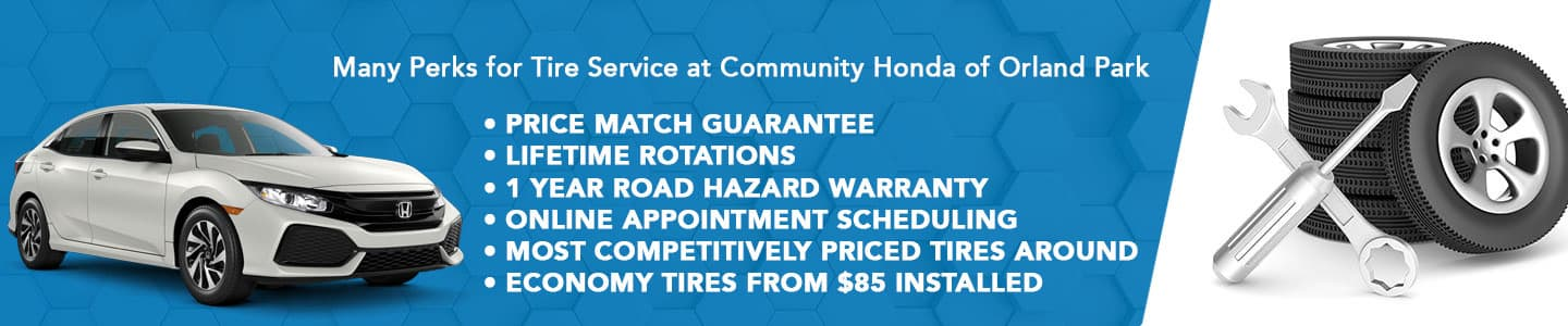 Comprehensive Tire Services for Orland Park, IL, Area Honda Drivers