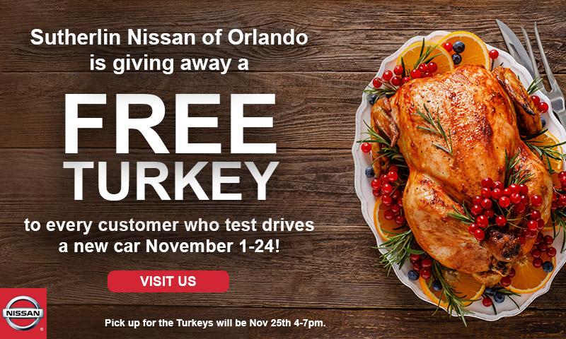 Sutherlin Nissan Orlando Free Turkey